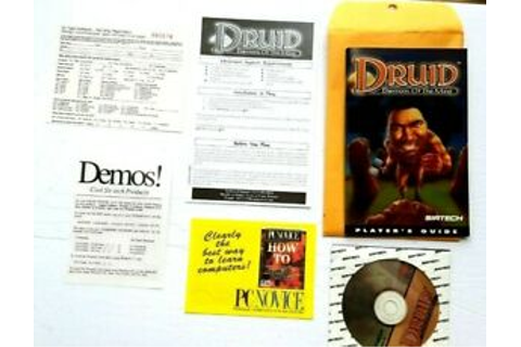 Druid Daemons of the Mind 1995 PC Game Disc Manual ...