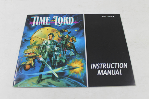 Manual - Time Lord - Classic Original Nes Nintendo