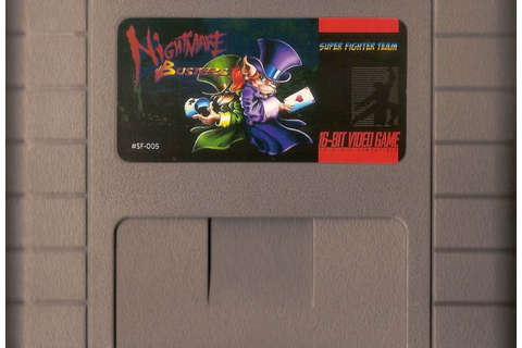 Nightmare Busters (2013) SNES box cover art - MobyGames