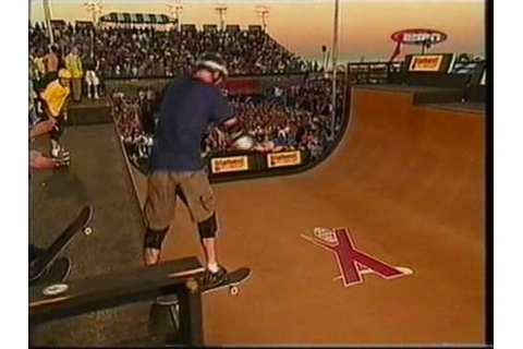 Tony Hawk lands the first ever 900 at the 1999 X Games ...