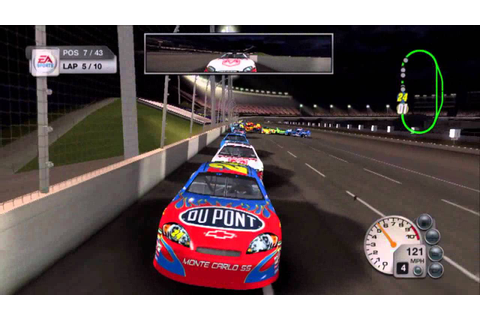 NASCAR 08 Race at Charlotte with Jeff Gordon - YouTube