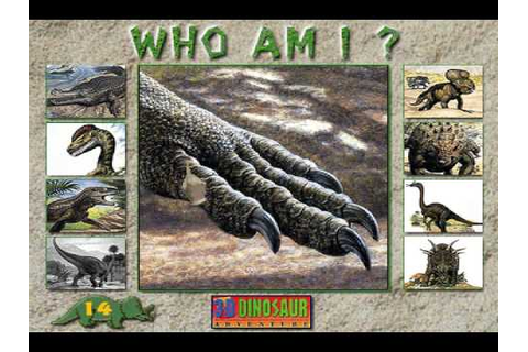 Who Am I? Game from 3-D Dinosaur Adventure MS-DOS/Packard ...