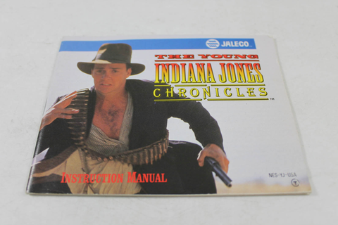 Manual - Young Indiana Jones Chronicles - Nes Nintendo