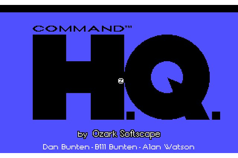 Download Command HQ strategy for DOS (1990) - Abandonware DOS