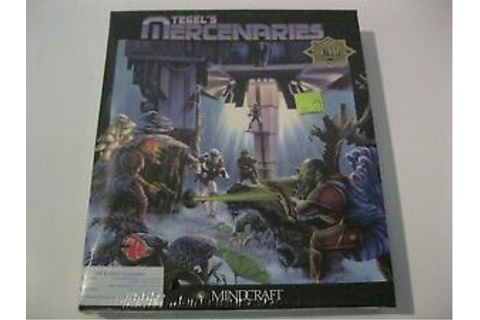 "Tegel's Mercenaries sealed PC game 5.25"" disk Mindcraft 