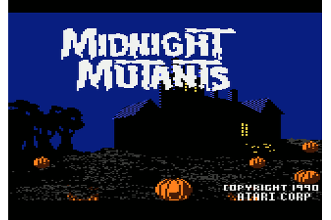 Midnight Mutants (1990) by Pixcel Software Atari 7800 game