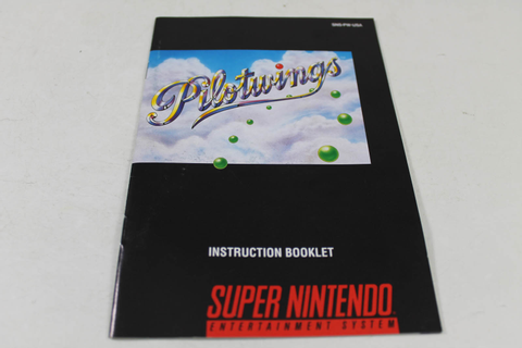 Manual - Pilotwings - Fun Snes Super Nintendo