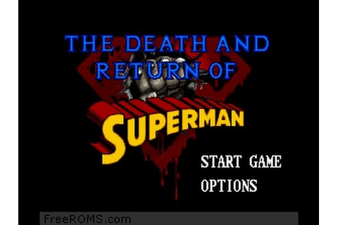 The Death and Return of Superman SNES Gameplay - YouTube