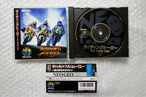 "Riding Hero + Spine Card ""Good Condition"" SNK Neo Geo CD ..."