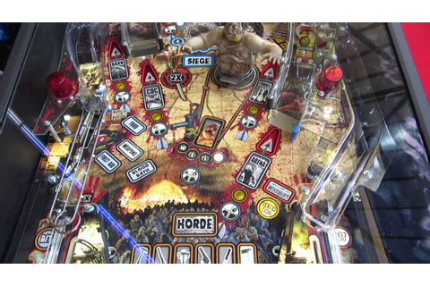 The Walking Dead pinball, playfield up close - YouTube