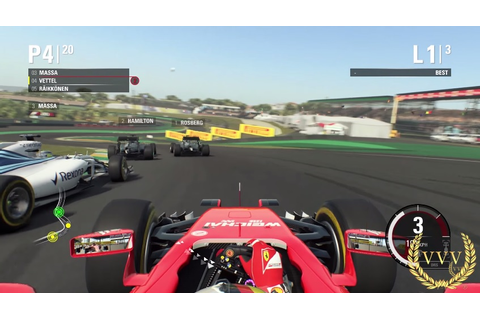 F1 2015 Playstation 4 preview gameplay, Brazil - Team VVV