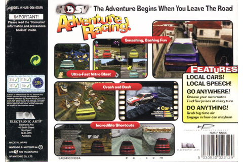 Beetle Adventure Racing! (1999) Nintendo 64 box cover art ...