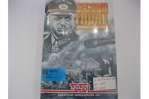 "Second Front Germany Turns East New PC Game 5.25"" disk SSI ..."