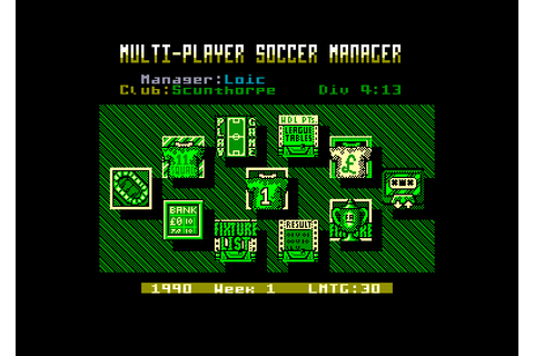 Multi-player soccer manager by D & h games on Amstrad CPC ...