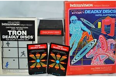 TRON DEADLY DISCS IntelliVision Video Game w/Overlays box ...