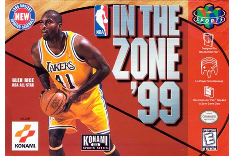 NBA In the Zone '99 Nintendo 64 Game