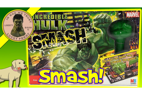 The Incredible Hulk Smash Game - Milton Bradley Games ...