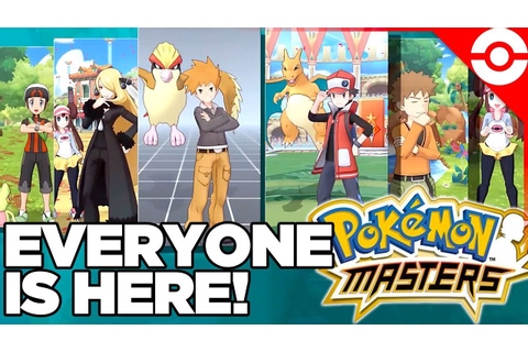 Everyone is Here! New Game This Summer! Pokemon Masters ...