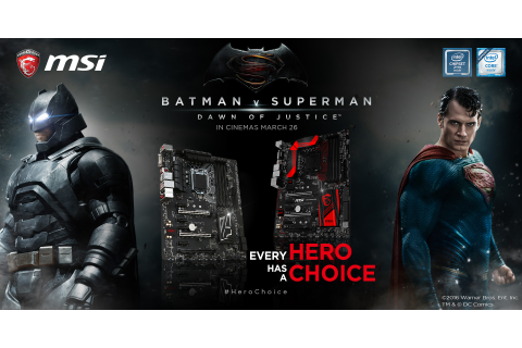MSI x Batman v Superman: Dawn of Justice | MSI Z170 Gaming ...