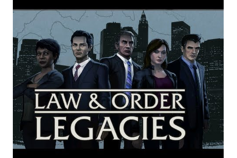 Let's play Law & Order Legacies - Episode 1 Part 1 - YouTube