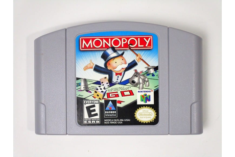 Monopoly game for Nintendo 64 (Loose) | The Game Guy