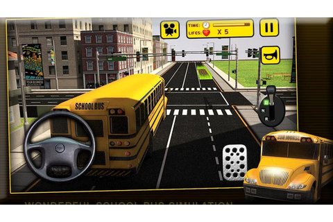 School Bus Simulator 3D Games - Android Gameplay HD - YouTube