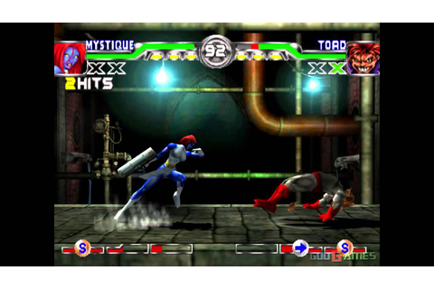 X-men Mutant Academy 2 - Gameplay PSX / PS1 / PS One / HD ...