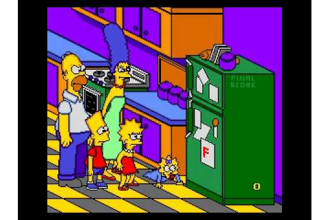 The Simpsons: Bart's Nightmare Game Over Sega Genesis ...