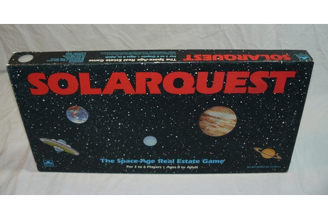 1986 SolarQuest Space Age Real Estate Board Game by spacemage