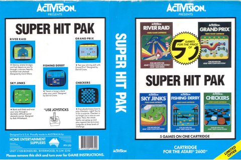 Atari 2600 VCS Super Hit Pak - River Raid / Grand Prix ...