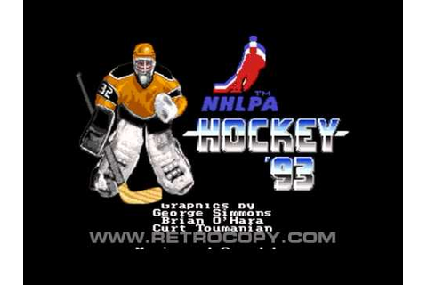NHLPA Hockey '93 (Sega Genesis / Mega Drive) Intro - YouTube