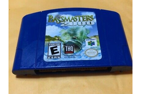 BassMasters 2000 (Nintendo 64 N64 Game) - Tested - Fast ...