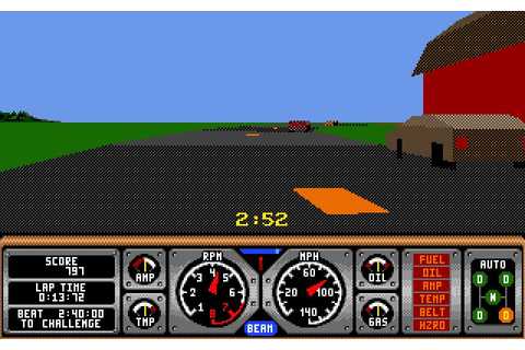Download Hard Drivin' 2 racing for DOS (1990 ...