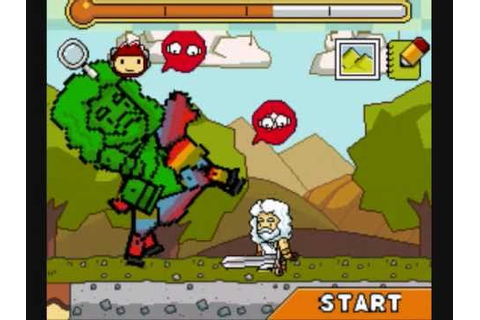 Super Scribblenauts Gameplay NDS - YouTube