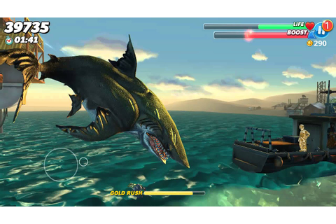 Hungry shark world- Megalodon gameplay - YouTube