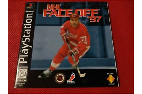 NHL Faceoff '97 PS1 Instruction Manual Booklet NO ...