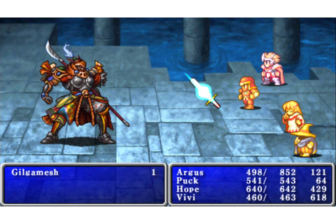 Final Fantasy 1 (PSP)-Gilgamesh - YouTube