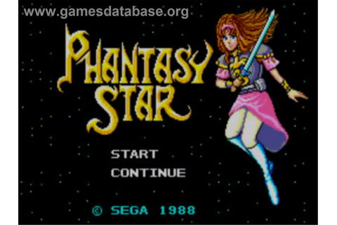Phantasy Star - Sega Master System - Games Database