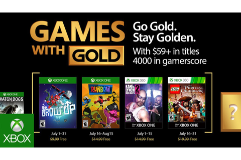 Xbox - July 2017 Games with Gold - YouTube