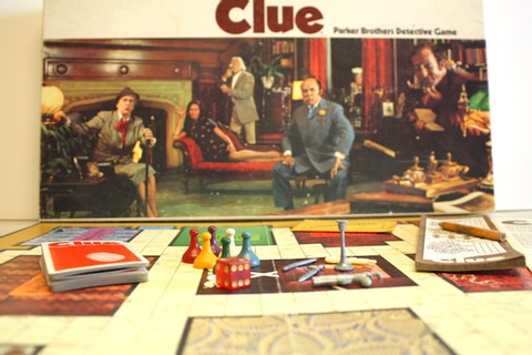 Vintage Classic Board Game of CLUE. 1972 Edition