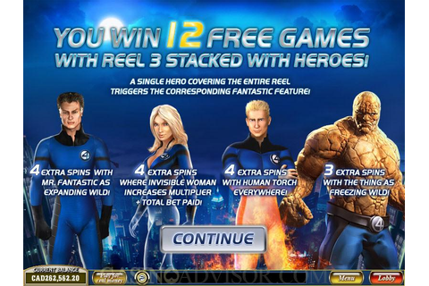 Playtech Fantastic Four Online Casino Video Slot Game Review