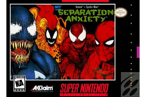 Spider-Man / Venom Separation Anxiety SNES Super Nintendo