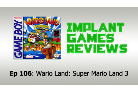 Wario Land: Super Mario Land 3 Review (Game Boy) 60 fps ...