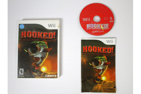 Wii Hooked Real Motion Fishing game for Wii (Complete ...