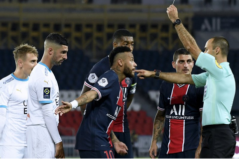 Watch: PSG's Neymar among five players ejected for in-game ...