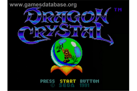 Dragon Crystal - Sega Game Gear - Games Database
