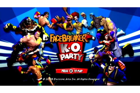 Facebreaker: K.O. Party Wii Gameplay - YouTube