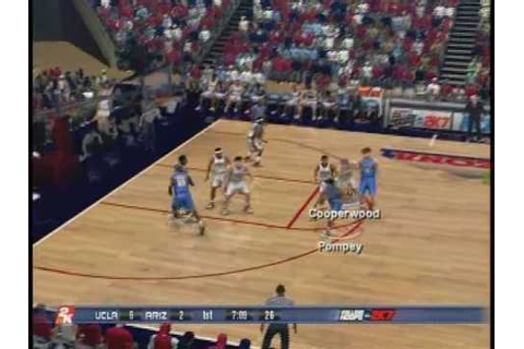 College Hoops 2k7 UCLA vs. Arizona Gameplay - YouTube