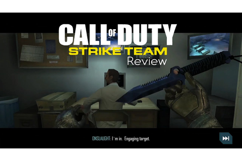 Call of Duty Strike Team Android Review Galaxy S4 - YouTube