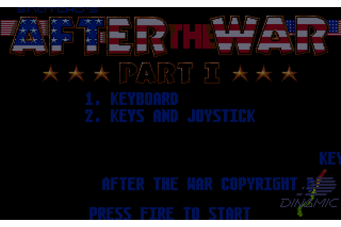 After the War (1989) by Dinamic Amiga game